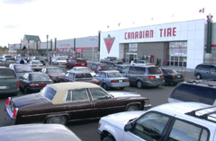 Cars in front of Canadian Tire