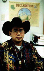 Chief William in cowboy hat