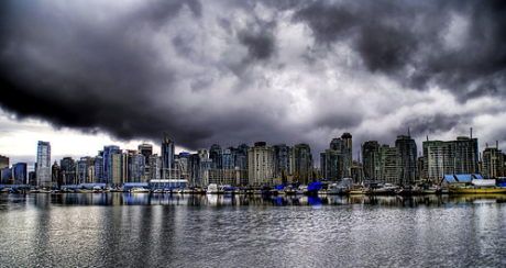 Vancouver with rain clouds